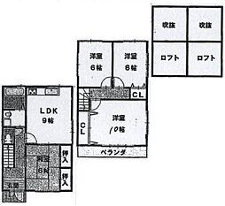 [一戸建] 大阪府東大阪市三島2丁目 の賃貸【/】の間取り