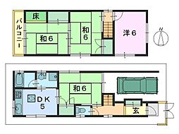 [一戸建] 奈良県大和郡山市今国府町 の賃貸【/】の間取り