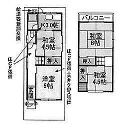 [テラスハウス] 大阪府堺市北区新堀町2丁 の賃貸【/】の間取り