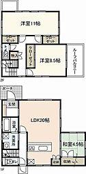 [一戸建] 広島県廿日市市平良1丁目 の賃貸【/】の間取り