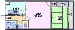 木村マンション[405号室]の間取り