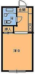 エステート都賀[105号室]の間取り