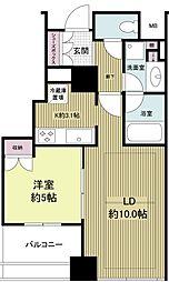 堂島ザ・レジデンスマークタワー[0505号室]の間取り
