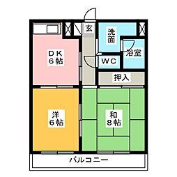 オズハウス3[2階]の間取り