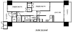 ワコーレ神戸三宮トラッドタワー[7階]の間取り