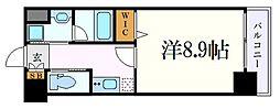 名古屋市営桜通線 桜山駅 徒歩2分の賃貸マンション 8階1Kの間取り