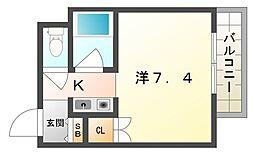 扇商事マンション[4階]の間取り
