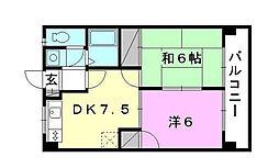 第82杉フラット[302 号室号室]の間取り