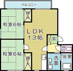 ソレア−ドTR・C棟[2階]の間取り