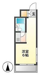 愛知県名古屋市千種区池園町2丁目の賃貸マンションの間取り