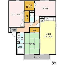 フォレスタ森本VI 202[2階]の間取り