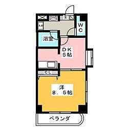 沖野マンションII[2階]の間取り