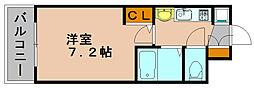 エステムコート博多祇園ツインタワーセカンドステージ[15階]の間取り