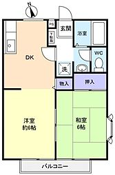 ペニーレインB棟[2階]の間取り