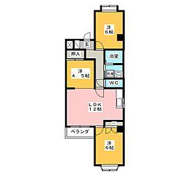 ベルパレス千代田[5階]の間取り