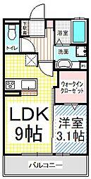 仮)D-room三輪3丁目[3階]の間取り