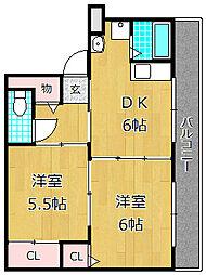 香里ニューハイツ[4階]の間取り