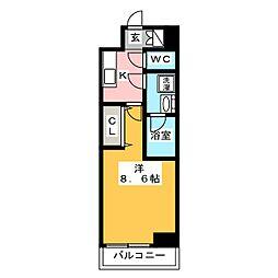 GRAN PASEO日本橋三越前 6階1Kの間取り