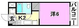 二宮マンション[402号室]の間取り