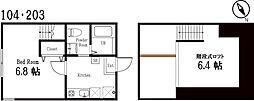 ハーミットクラブハウス逗子A号棟(仮称)[2階]の間取り