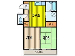 東友チャームハイツ I[103号室]の間取り