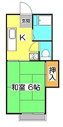 埼玉県所沢市泉町の賃貸アパートの間取り
