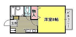 ロンサール奥田[1階]の間取り