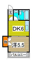 松本マンション[308号室]の間取り