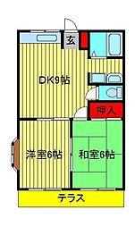 田口ハイツ[206号室]の間取り
