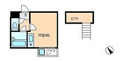 松戸カサベラ六番館[3階]の間取り
