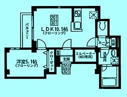 サンエクウス[3階]の間取り