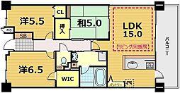 パデシオン京都七条ミッドパーク[705号室]の間取り