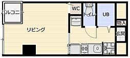 キャッスルマンション大山[1階]の間取り