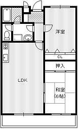 エクシード小山[2階]の間取り