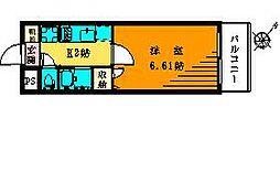 テ・ルージュ[203号室]の間取り