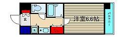 エスティライフ難波西[3階]の間取り