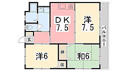王塚台マンション[202号室]の間取り