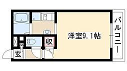 愛知県名古屋市緑区桶狭間切戸の賃貸マンションの間取り