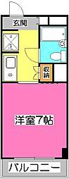 埼玉県所沢市小手指町3丁目の賃貸マンションの間取り