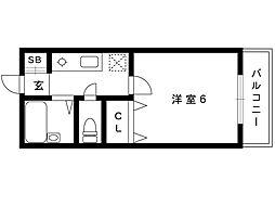 ビューライフ魚崎[304号室]の間取り