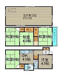 [一戸建] 大阪府堺市中区堀上町 の賃貸【/】の間取り