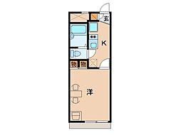 レオパレスフランボワーズF[2階]の間取り