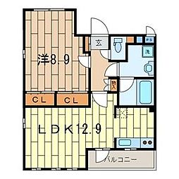 MAISON CLAIR HIYOSHI II[3階]の間取り