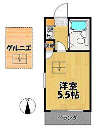 田沢アパート[202号室]の間取り