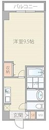 セブンレジデンス日本橋 8階1Kの間取り