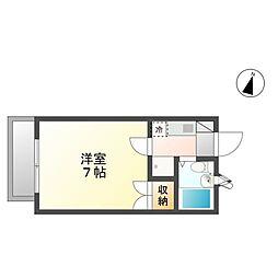 21ハイムC棟[1階]の間取り