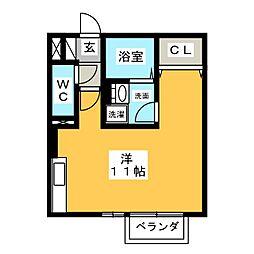 メープルA長篠[2階]の間取り