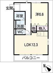 エンゼルコート花咲II[2階]の間取り