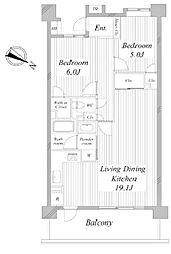 ダイアパレス高尾2[3階]の間取り