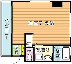 福岡県北九州市小倉北区清水5丁目の賃貸アパートの間取り